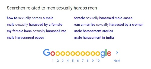 male harassment